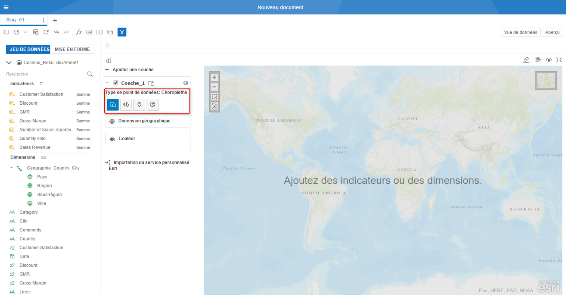 Discovery cr er une hi rarchie g ographique tutoriel sap businessobjects - Creer une carte geographique personnalisee ...